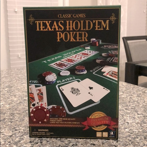 "Poker Game- ""Texas Hold 'Em""- NEW in box, sealed"